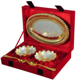 Silver Plated - IN-INDIA Silver & Gold Plated Brass Bowl Set