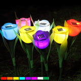 Solar - Flower And Leaf Solar Powered Rechargeable LED Lawn Garden Light Lamp Auto On Off Waterproof