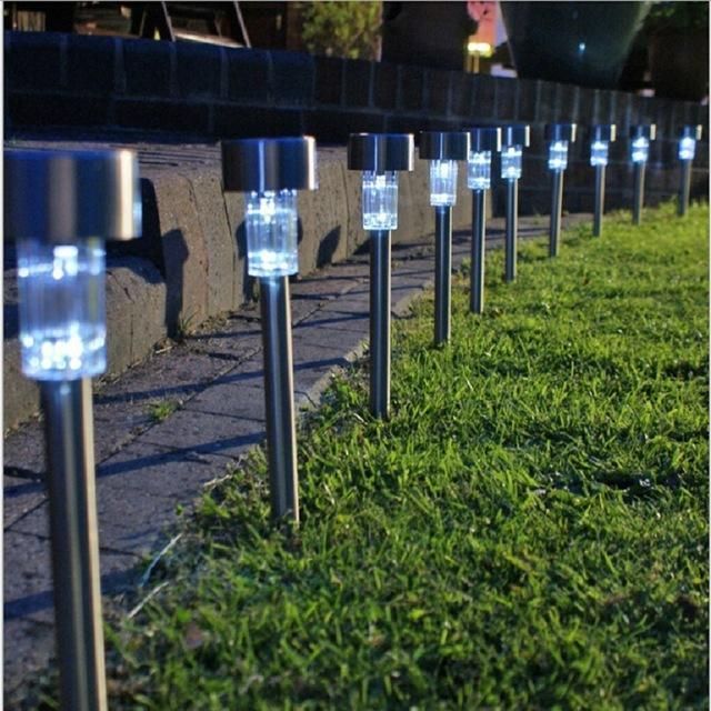 Solar - Solar Powered Rechargeable LED Lawn Garden Light Lamp Auto On Off Waterproof