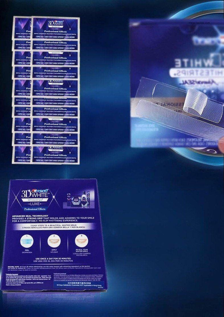 Teeth - Original P&G Crest 3D Teeth Stain Hider And Remover (7 Treatment - 14 Strips)