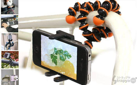 Universal Spider Tripod With Holder For All Phones / Selfie Sticks / DSLR
