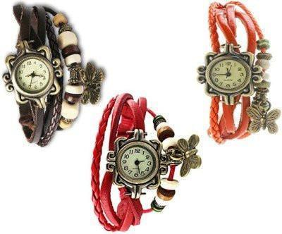 Watch - Anch Vintage  Analog Watch - For Girls, Women- SET OF 3