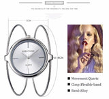 Watch - Chic Ultra Light Weight Double Ring High Finish Stainless Steel Band Casual Women Watch Bracelet