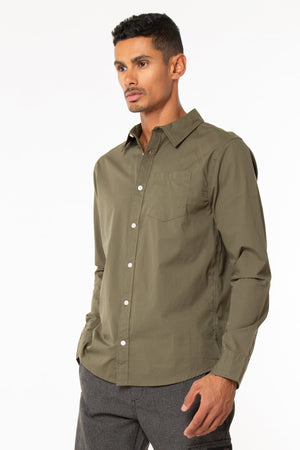 Button Down Tonal Shirt