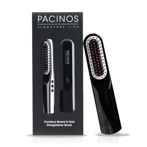 PACINOS -  Cordless Beard & Hair Straightener Brush - Brem's Beard Company