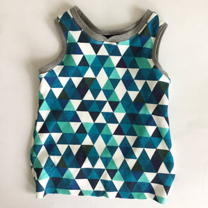 Tank Top-Blue Triangles