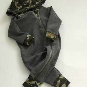 Winter Onesie-Green Camo