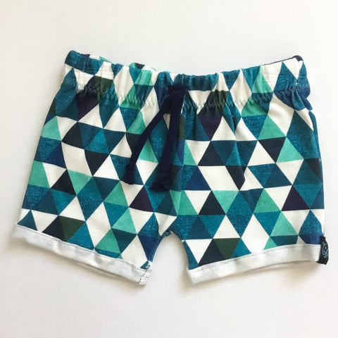 Shorts-Blue Triangles