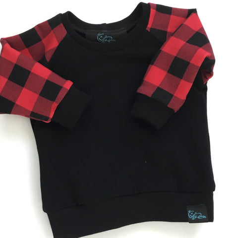 Crewneck-Buffalo Plaid