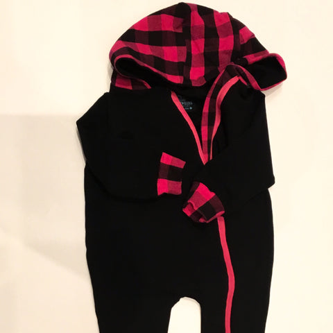 Winter Onesie-Pink Plaid