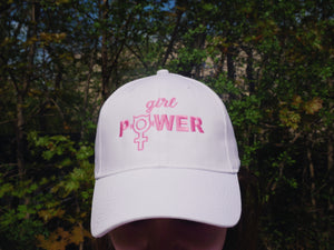 Girl Power Cap in White