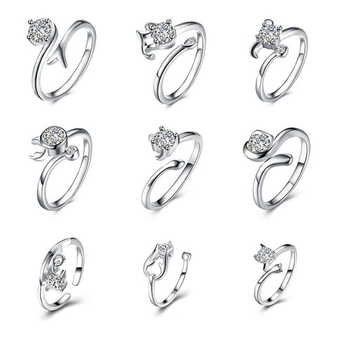 Zodiac Adjustable Zircon Rings