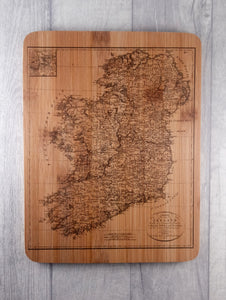 Vintage map of Ireland Bamboo Chopping Board