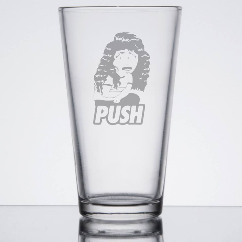 Personalised Engraved Pint Glass - South Park - Push