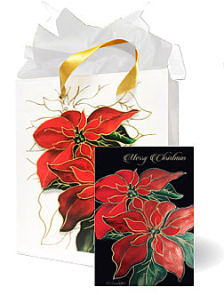 Two Poinsettias - MB-1022A