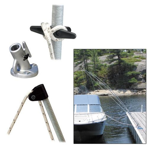 Dock Edge Premium Mooring Whips 2PC 8ft 2500 LBS up to 18ft