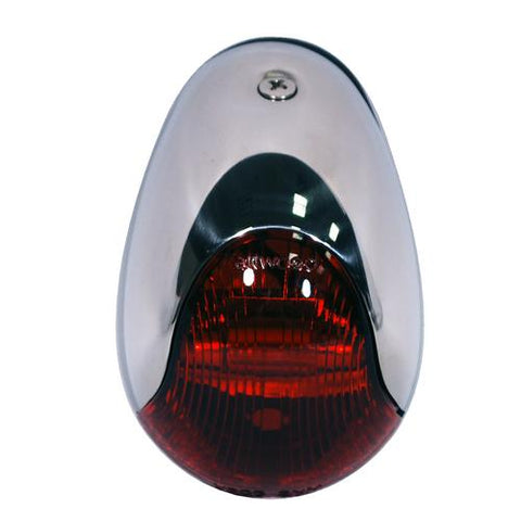 Attwood 2-Mile Vertical Mount Red Sidelight - 12V - Stainless Steel Housing