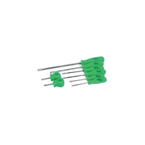 SCREWDRIVER SET 8PC. NEON GREEN