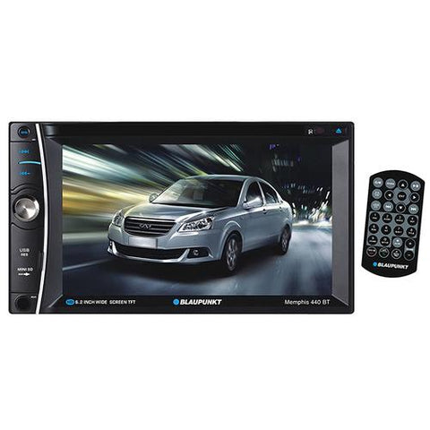 "Blaupunkt Double din DVD/CD receiver with 6.2"" touch screen and Bluetooth"