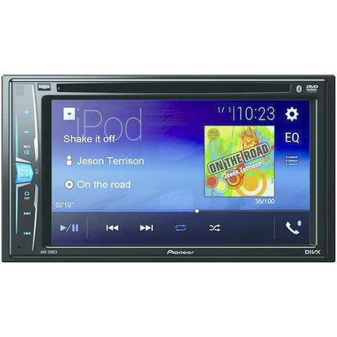 "Pioneer(R) AVH-200EX 6.2"" Double-DIN In-Dash DVD Receiver with WVGA Clear-Resistive Touchscreen & Bluetooth(R)"