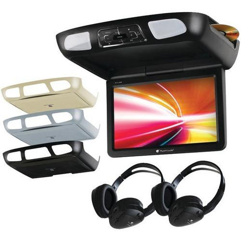 "Planet Audio(R) P11.2ES 11.2"" Ceiling-Mount TFT DVD Player with Built-in IR Transmitter, FM Modulator & 3 Color Housings"