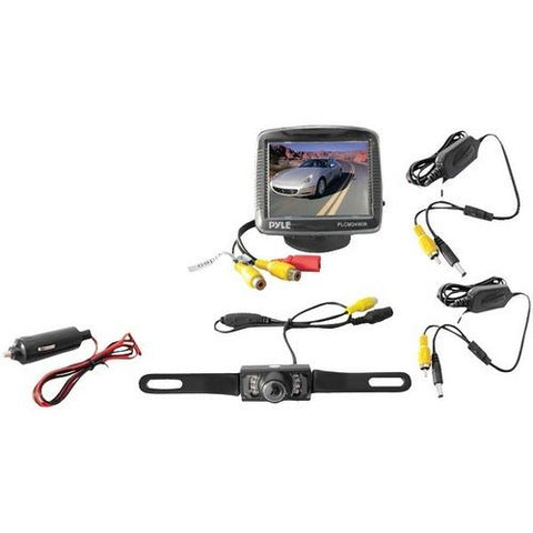 "Pyle(R) PLCM34WIR 3.5"" Wireless Backup Camera & Monitor System with Night Vision"