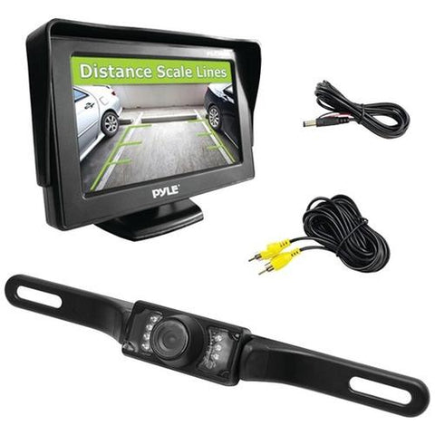 "Pyle(R) PLCM46 4.3"" Monitor & Backup Swivel-Angle Adjustable Camera System with Distance-Scale Lines & Parking Assist"