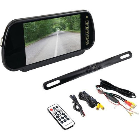 "Pyle(R) PLCM7400BT Bluetooth(R) Backup Camera & Monitor System with 7"" Mirror-Mount Display Screen"
