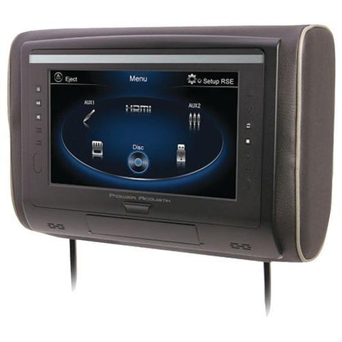 "Power Acoustik 9"" Lcd Universal Headrest With Ir & Fm Transmitters & 3 Interchangeable Skins (monitor Only) (pack of 1 Ea)"