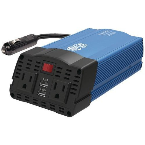 Tripp Lite 375-watt-continuous Powerverter Ultracompact Car Inverter With Usb & Battery Cables (pack of 1 Ea)