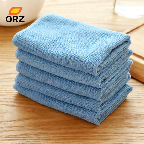 ORZ 5PCS/Lot Absorbent Microfiber Towel Kitchen Cleaner Wipping Rags Cleaning Cloth Bath Dust Face Hair Hand Dryer Towel