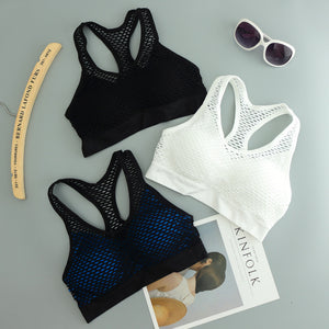"""Feral"" Mesh-Lined Athletic Bra"