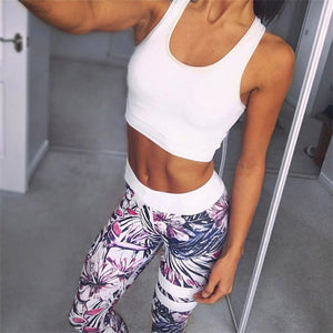 """Blossom"" Printed Athletic Leggings"