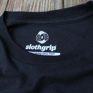 slothgrip sloth claw climbing t-shirt night label