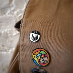 Slothgrip Climbing Hang Happy Enamel Pin Bag