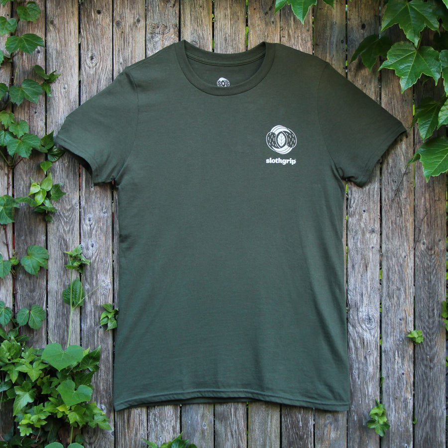 slothgrip leaf claw climbing t-shirt rear