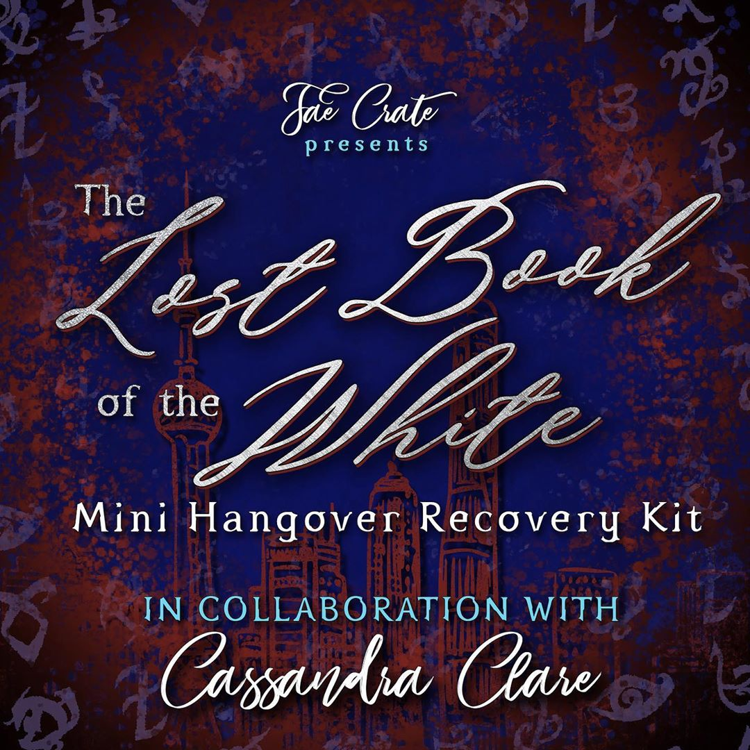 Lost Book of the White Mini Hangover Recovery Kit in collaboration with Cassandra Clare