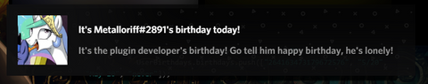 User Birthdays