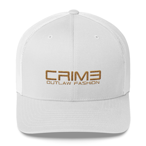 Crime Outlaw Fashion Trucker Cap - hustleport