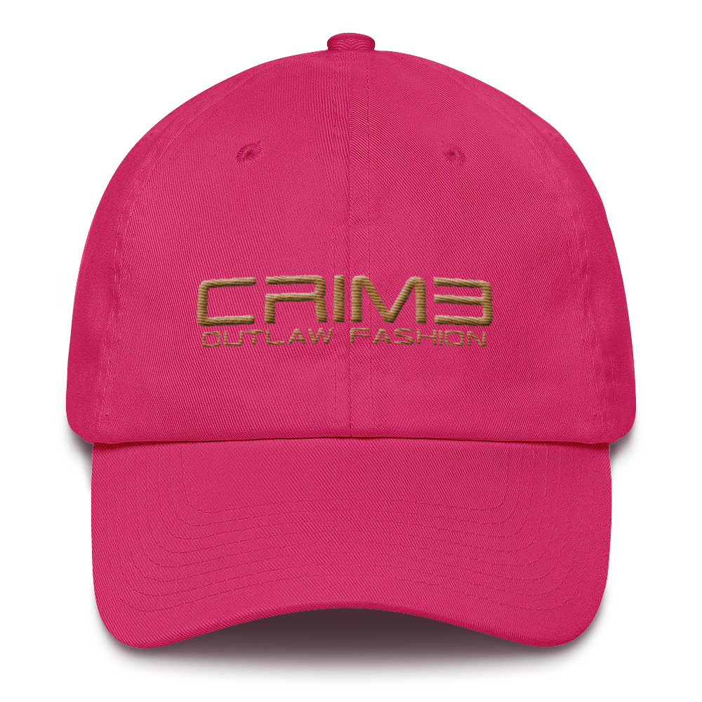 CRIME Outlaw Fashion Cotton Cap exclusive 3d puff - hustleport