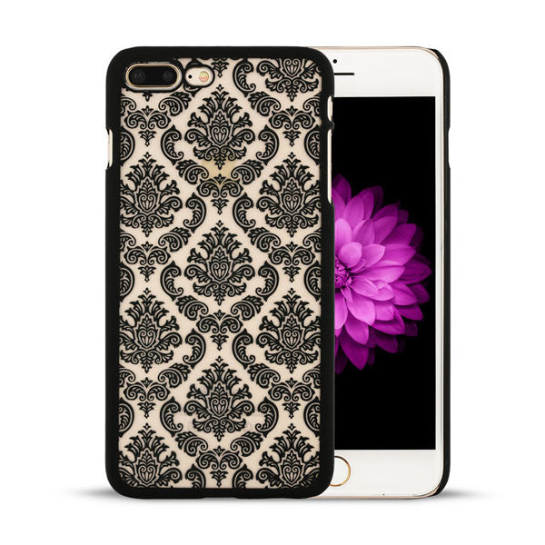 Retro Palace Flower Case For iPhone 7 Plus Cover Vintage Print Pattern Henna Floral Paisley Flower Shell Phone Cases Funda Coque - hustleport