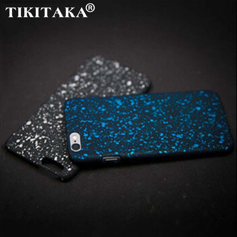 Wholesale New Style 3D Cover Three-dimensional Stars Ultra thin Frosted Starry Sky Phone Case for iPhone 5s SE 6 6s 7 Plus Shell - hustleport