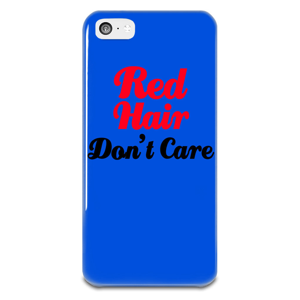 Red Hair Don't Care iPhone 5-5s Plastic Case - hustleport