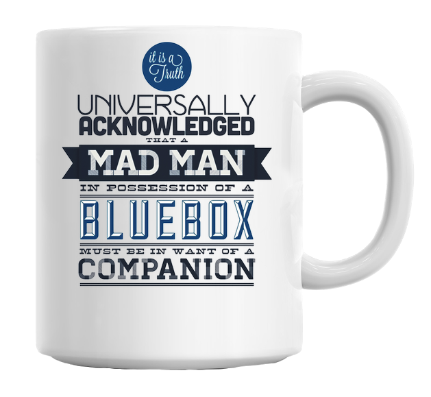 A Mad Man In Possession Of A Blue Box Mug - hustleport