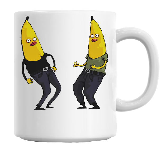Bananas In Regular Clothing Mug - hustleport