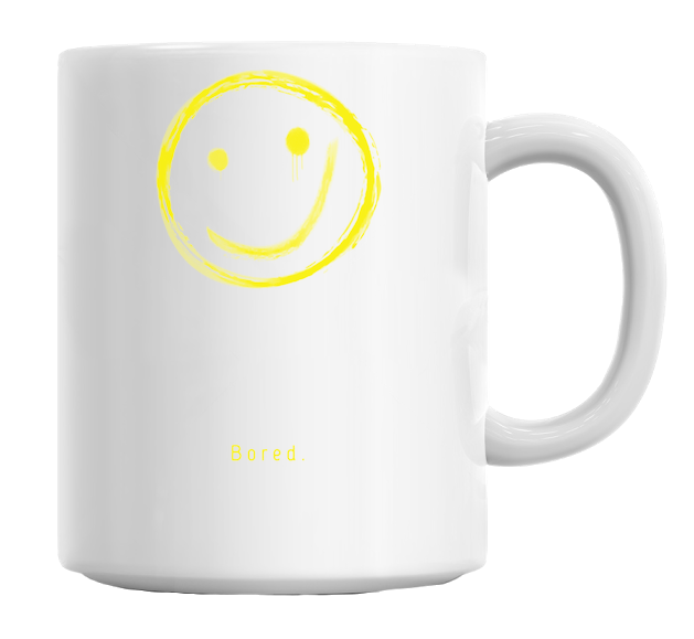 Bored Smile Mug - hustleport