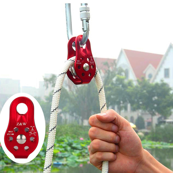 2017 High Quality Outdoor Tools Single Fixed Pulley Mountaineering Rope Climbing Rappelling Survival Camping Equipment #EW - hustleport