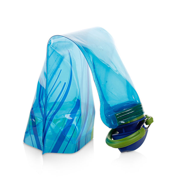 500ml-1000ml Outdoor PE Foldable Blue Color Drinking Sports Bottles Outdoor Hiking Camping Water #EW - hustleport
