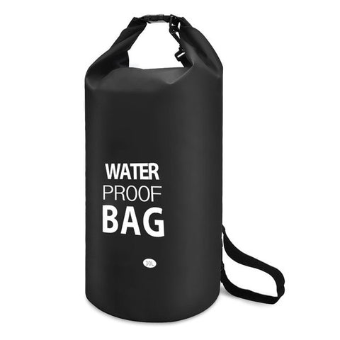 30L Outdoor Waterproof Dry Storage Bag Floating Gear Sack Shoulder Strap Included for Hiking Camping Swimming Canoeing Rafting - hustleport