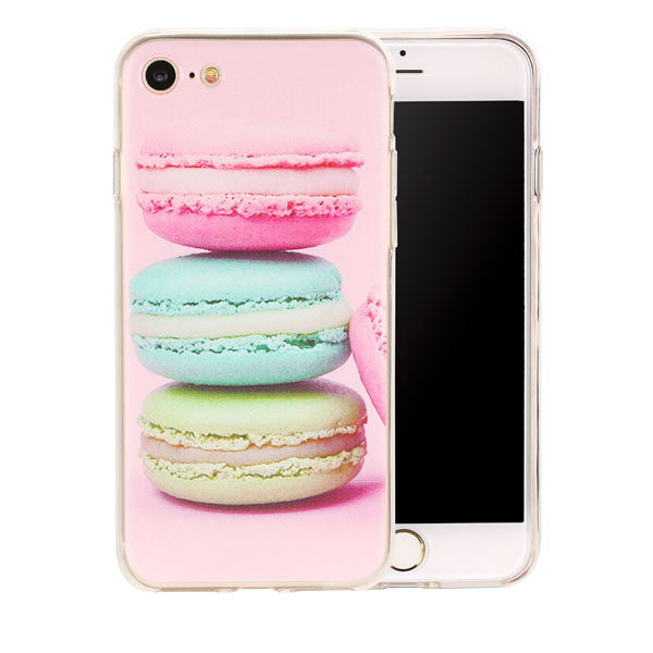 Lovely Sweet Candy Cover For iPhone 7 6 6s Plus SE 5 5s Case Dessert ice cream Macaron Printed Phone Cases Slim Soft TPU Coque - hustleport